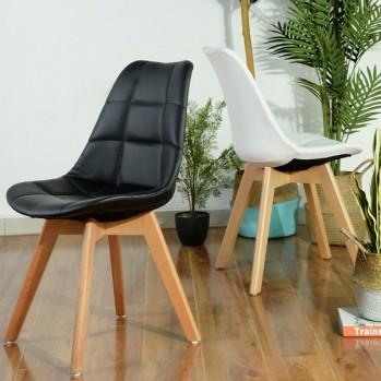 Chaise de salon similicuir - lot de 4