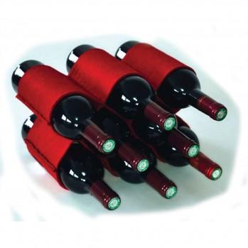 Range bouteille de vin en feutrine