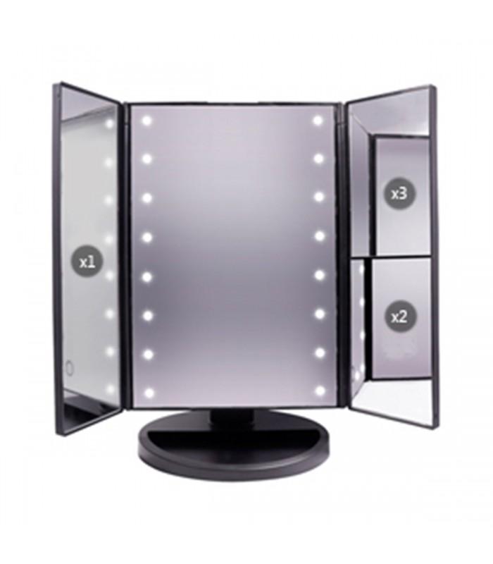miroir maquillage lumineux avec led. Black Bedroom Furniture Sets. Home Design Ideas