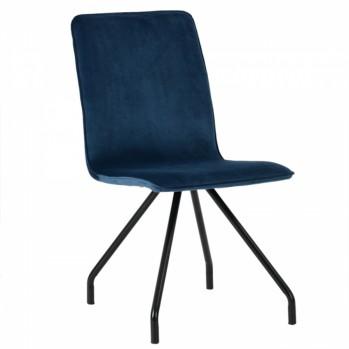 Lot de 2 chaises de salon en velours avec pieds design