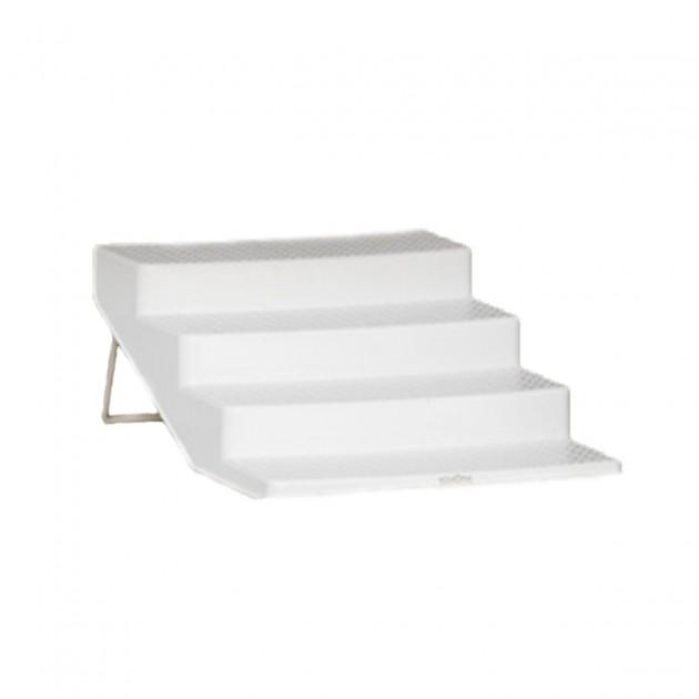 Etagère à épices 4 niveaux en plastique blanc 26 x 18 x 9 cm