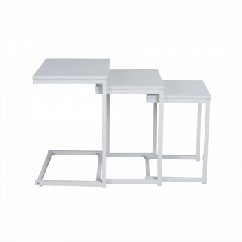 Ensemble 3 tables basses style contemporain