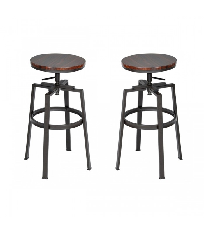 tabouret de bar bois et metal style industriel hauteur. Black Bedroom Furniture Sets. Home Design Ideas