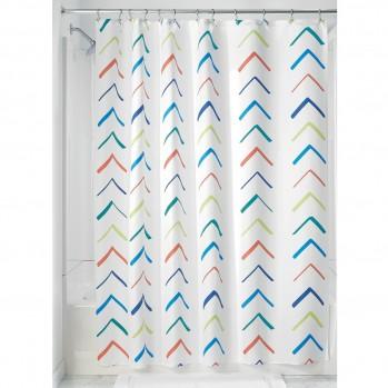 Rideau de douche multicolore - motif chevron
