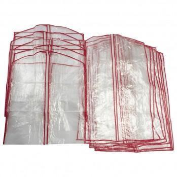 Lot de 13 housses pour vêtements transparent polyéthylène