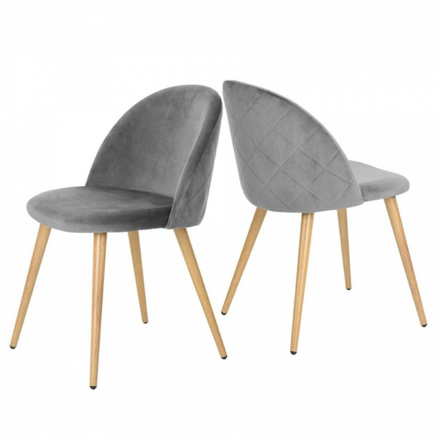 Lot de 2 chaises d'appoint en velours