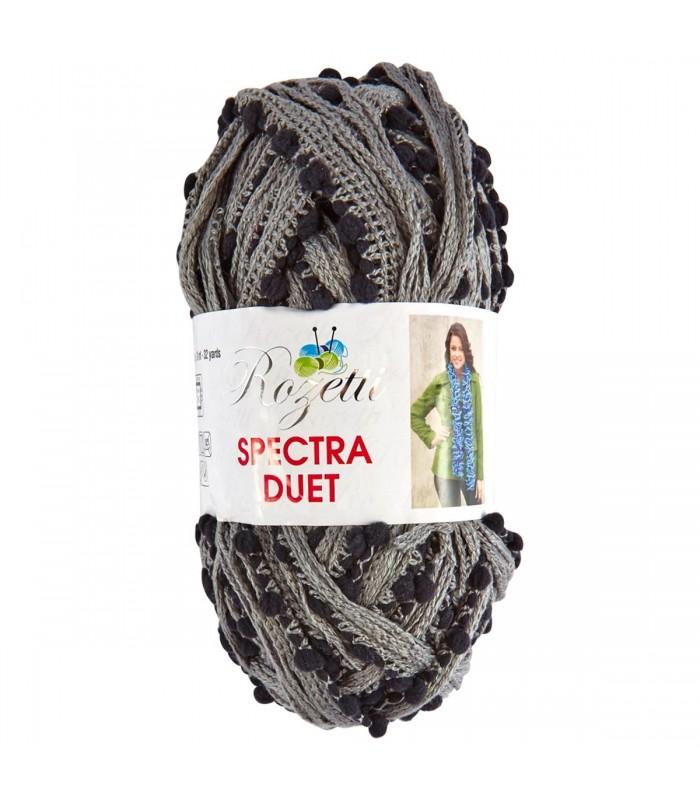f68b9c93a878 Pelote pour écharpe à tricoter Spectra Duet Earl Grey Gris Noir