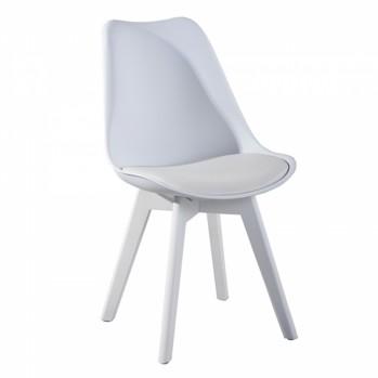 Lot de 4 chaises unicolores style nordique