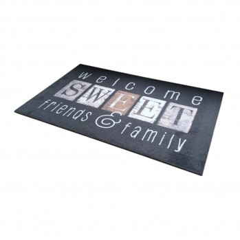 Tapis d'entrée motif Welcome Sweet Friends 50x80cm