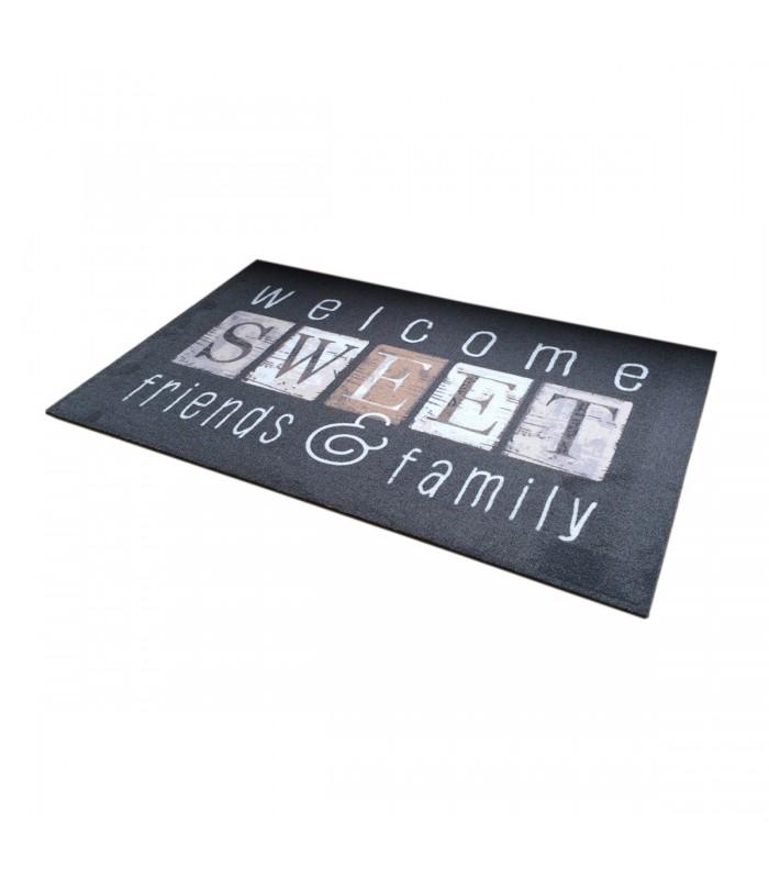 Tapis d'entrée motif Welcome Sweet Friends 50x80cm