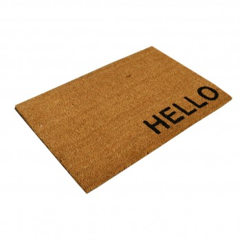 Paillasson marron motif Hello 40 x 60 cm