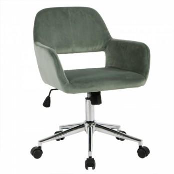 Chaise de bureau en velours