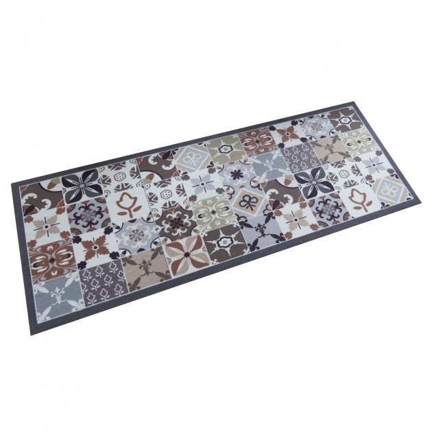 Tapis design carreaux de ciments mosaïque 45 x 120 cm