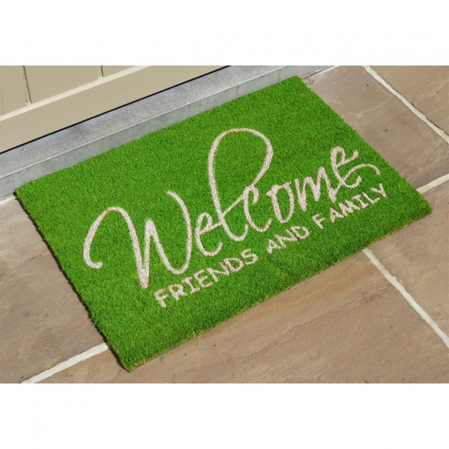 Paillasson Welcome Friend and Family 40 x 60 cm