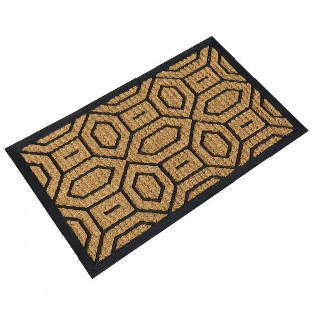 Paillasson en coco bouclé motif losanges 45 x 75 cm
