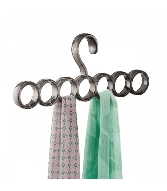 Cintre porte-écharpes 7 anneaux