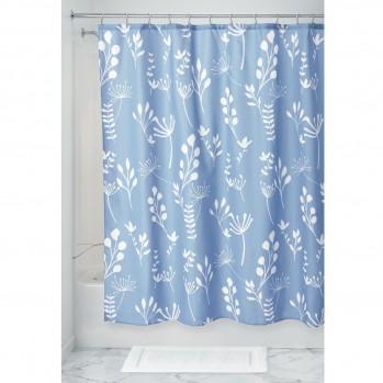 Rideau de douche motif plantes et feuilles 183 x 183 cm