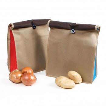 Lot de 2 sacs de conservation pour pomme de terre et oignons