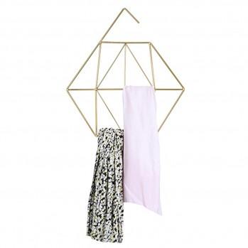 Cintre pour foulard/écharpe coloris doré