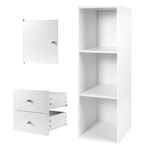 Lot meuble 3 cases anthracite avec porte et tiroirs