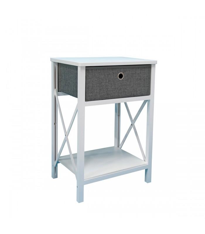 Meuble pliable bois blanc avec un tiroir