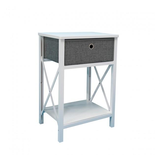 Table de chevet bois blanc avec un tiroir