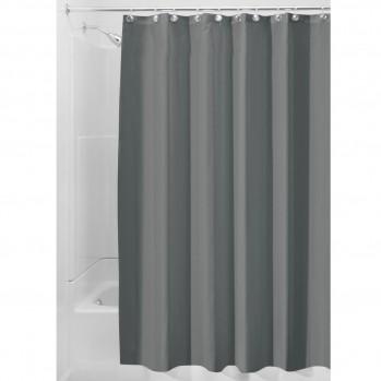Rideau de douche gris en polyester - 180 x 200 cm