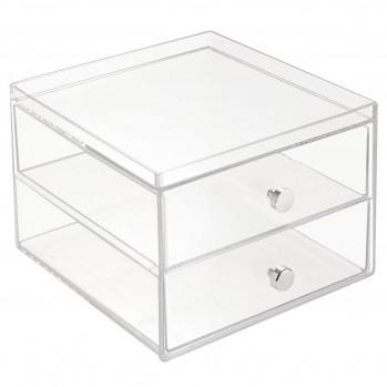 Organiseur 2 tiroirs en plastique