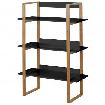 Étagère bambou 3 niveaux - Noire