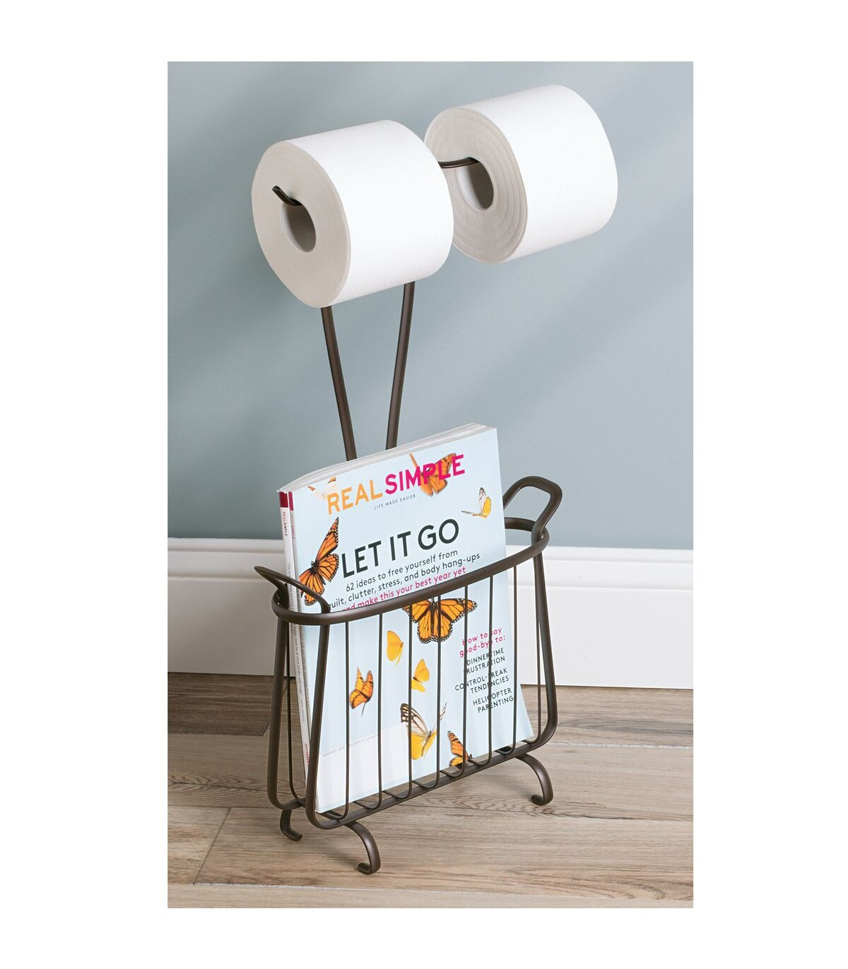 Rangement Papier Toilette Original double porte papier toilette avec porte-revues