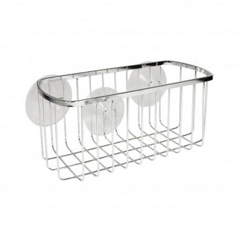 Panier rectangulaire de salle de bain avec ventouses