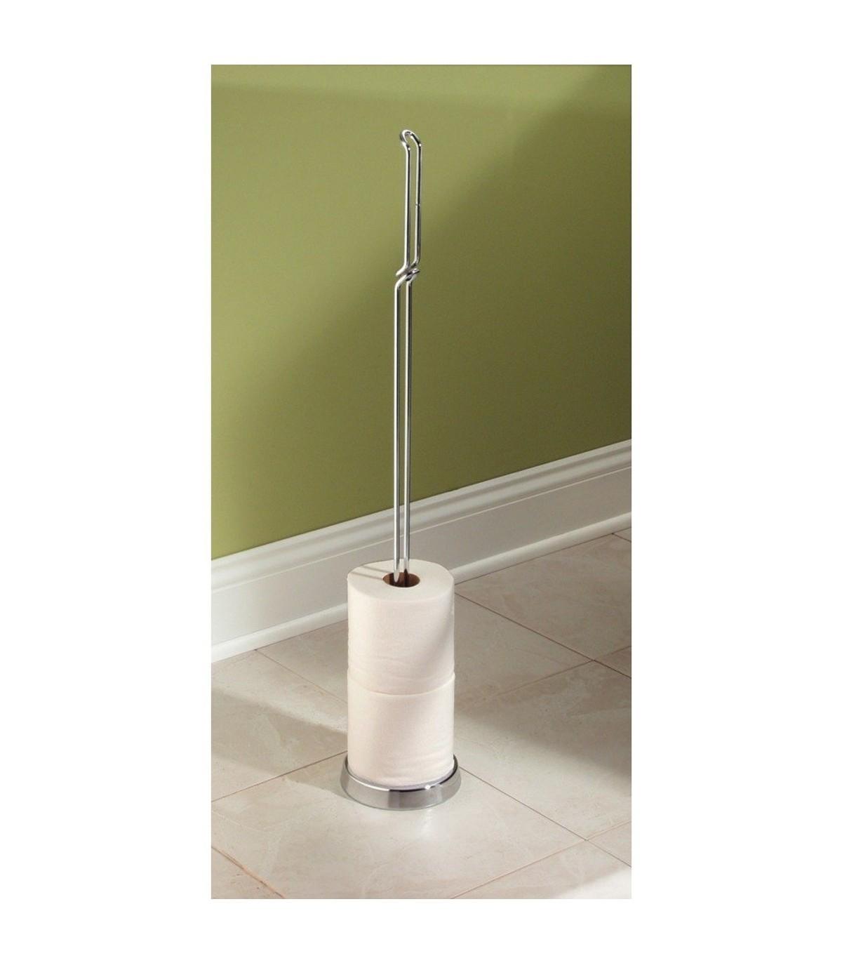 Rangement De Papier Toilette dérouleur papier toilette argenté