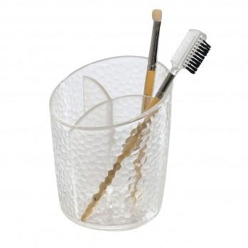 Porte brosse à dent transparent effet martelé
