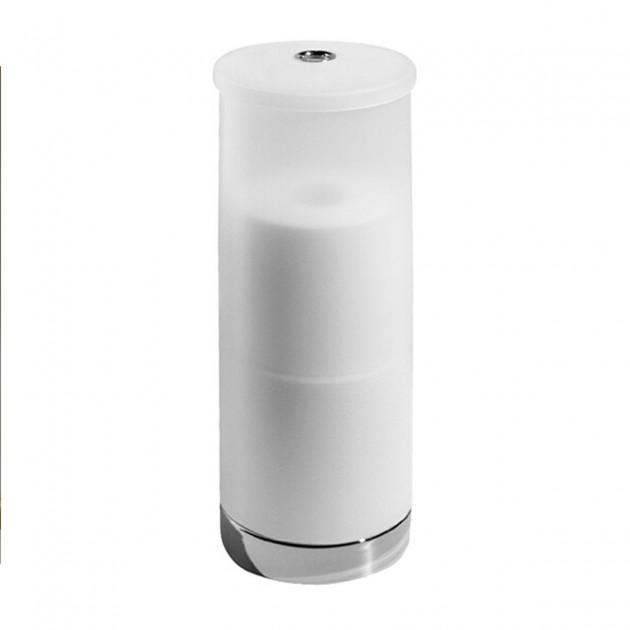 Porte papier toilette en plastique blanc