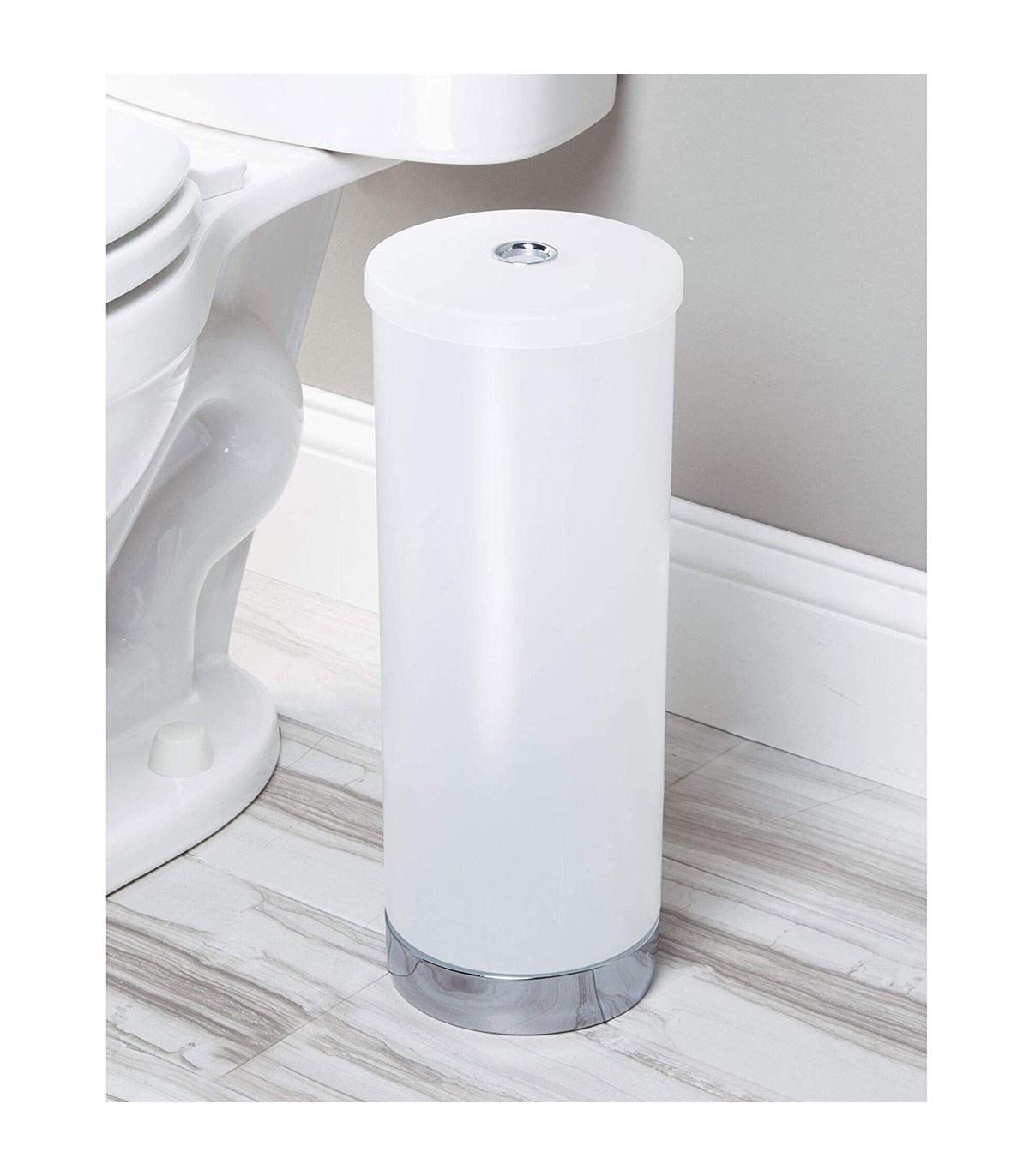 Boite Rangement Papier Wc porte papier toilette en plastique blanc