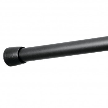 Barre pour rideau de douche noir 66.8 x 4.5 cm