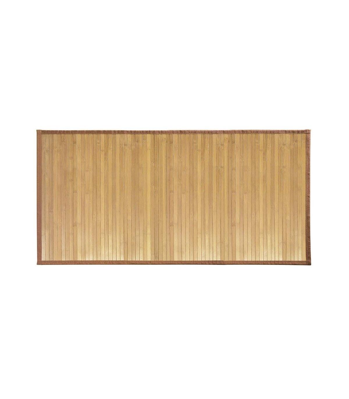 Tapis de bain en bambou 122 x 61 cm