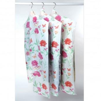 Lot 24 housses vêtement roseraie vert / rose 63x130 et 63x90