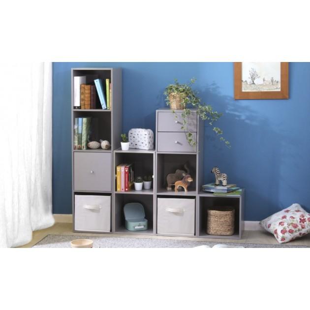 Porte pour meuble à cases bouton de porte inox