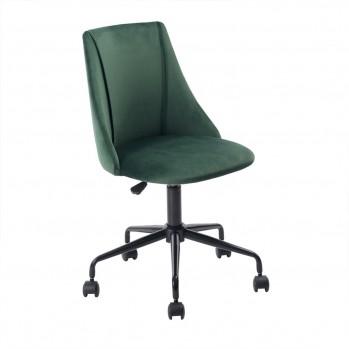 Chaise de bureau en velours à roulettes